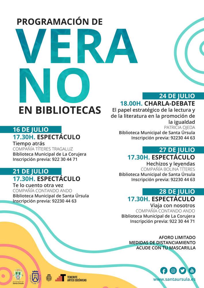 Verano bibliotecas santa ursula julio 2020