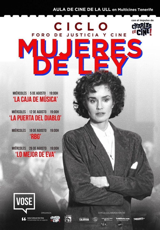 Ciclo de Cine Mujeres de Ley multicines tenerife agosto 2020