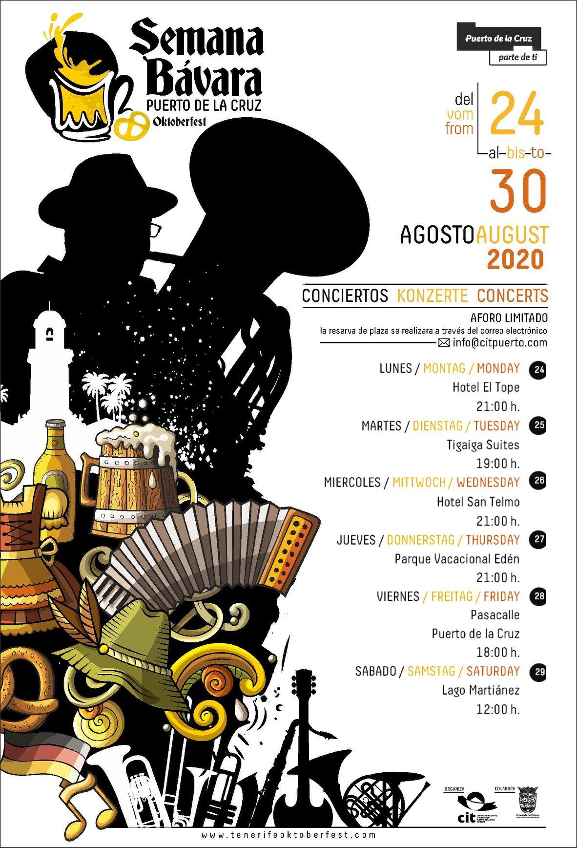 programa Semana Bávara puerto cruz agosto 2020