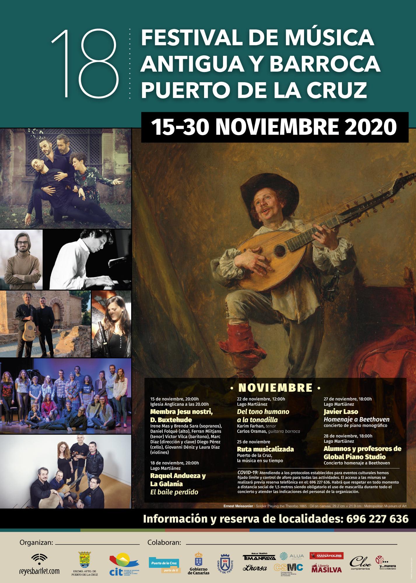 programa XVIII edición del Festival de Música Antigua y Barroca puerto curz
