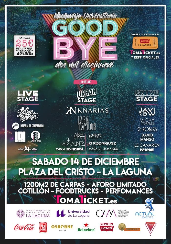 Nochevieja Universitaria Goodbye laguna diciembre 2019