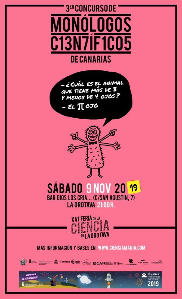 III Concurso de Monólogos Científicos de Canarias