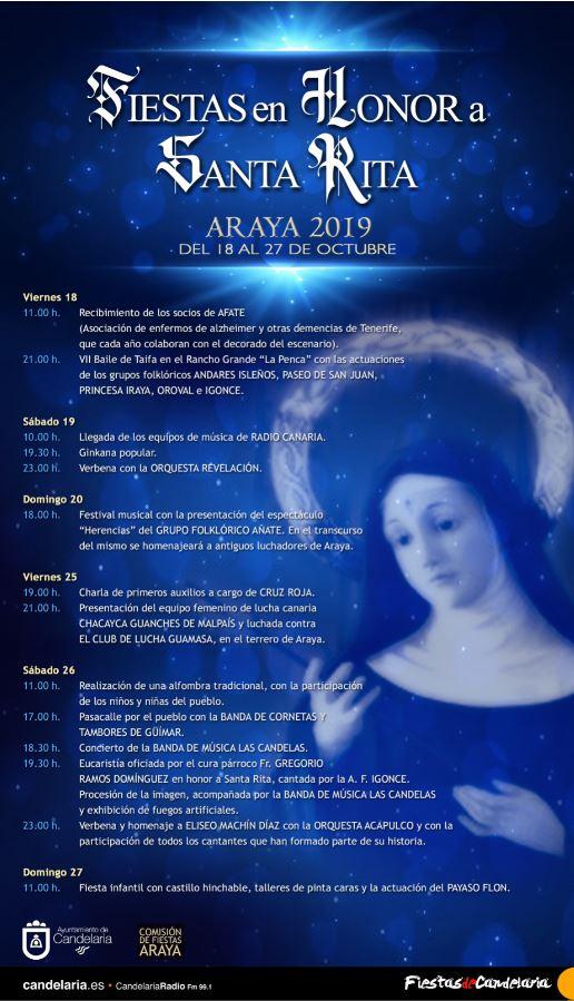 Fiestas en honor a Santa Rita 2019