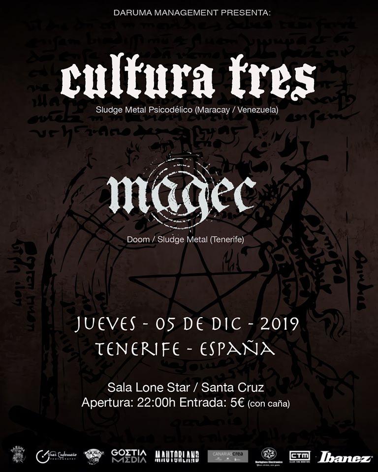 Cultura Tres Magec lone star santa cruz diciembre 2019