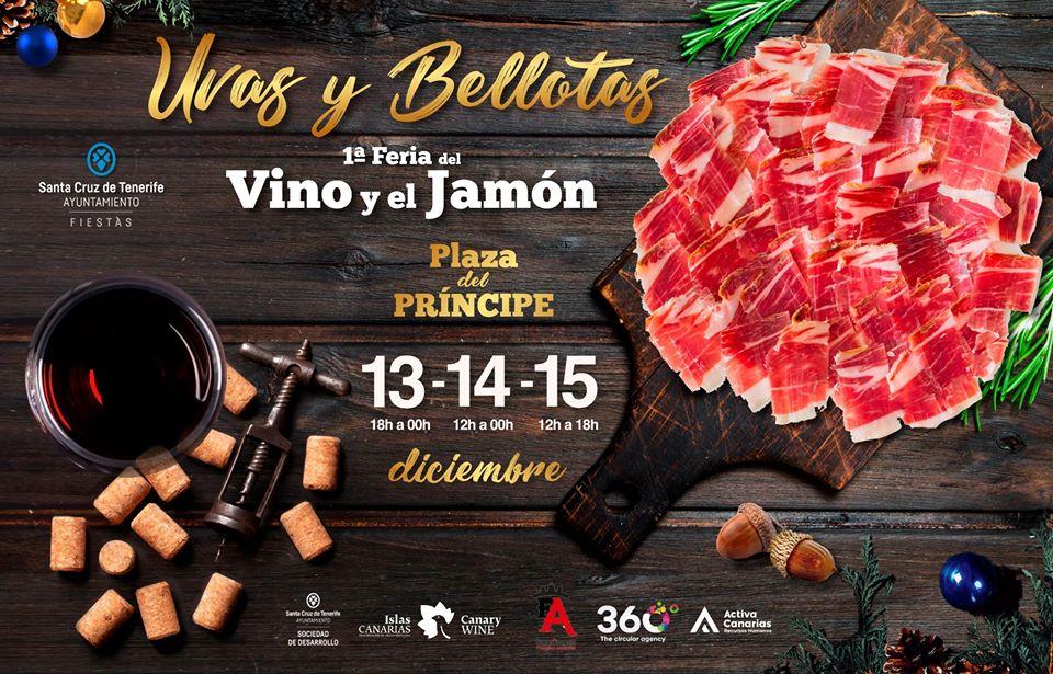 1ª Feria del Vino y el Jamón 'Uvas y Bellotas' plaza principe santa cruz diciembre 2019