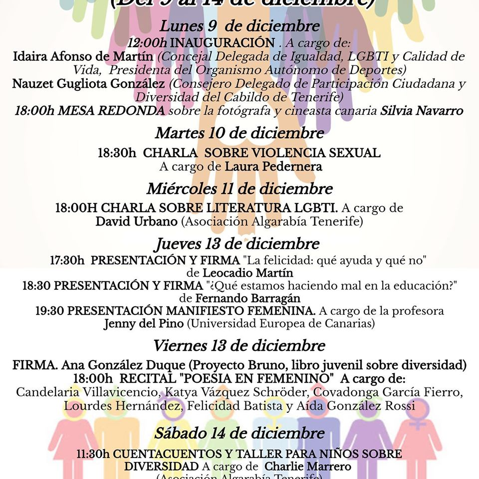 Jornadas Feminismo Género Diversidad lemus la laguna diciembre 2019