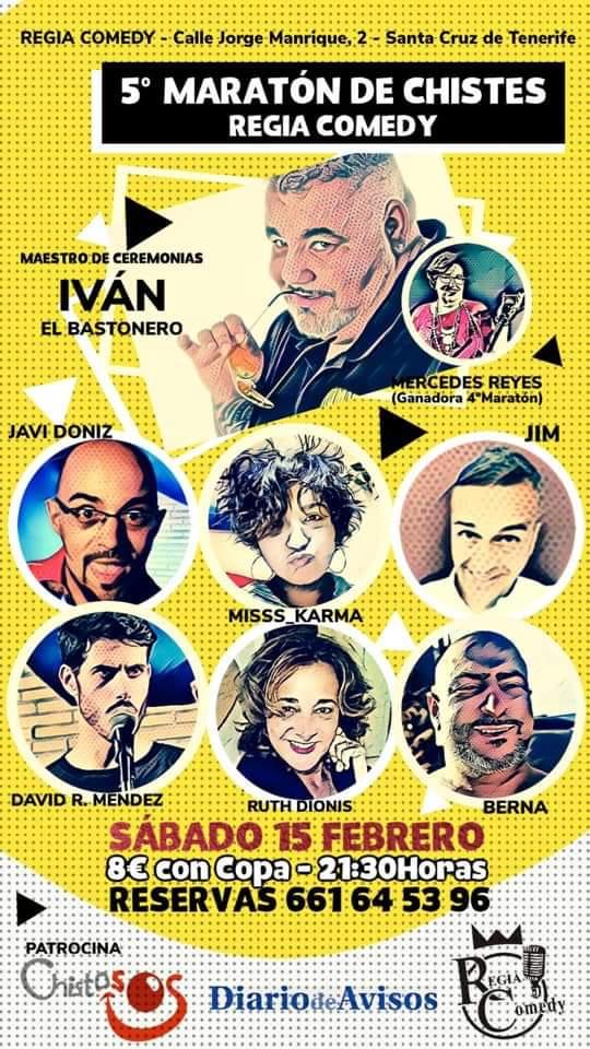 V Maratón de Chistes Regia Comedy santa cruz febrero 2020
