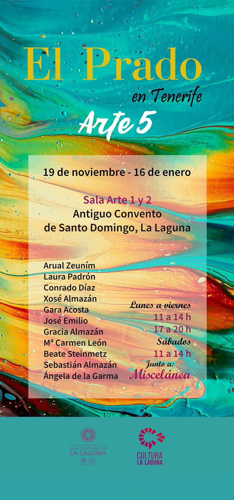 El Prado en Tenerife Colectivo Arte 5 convento santo domingo exposición 2020