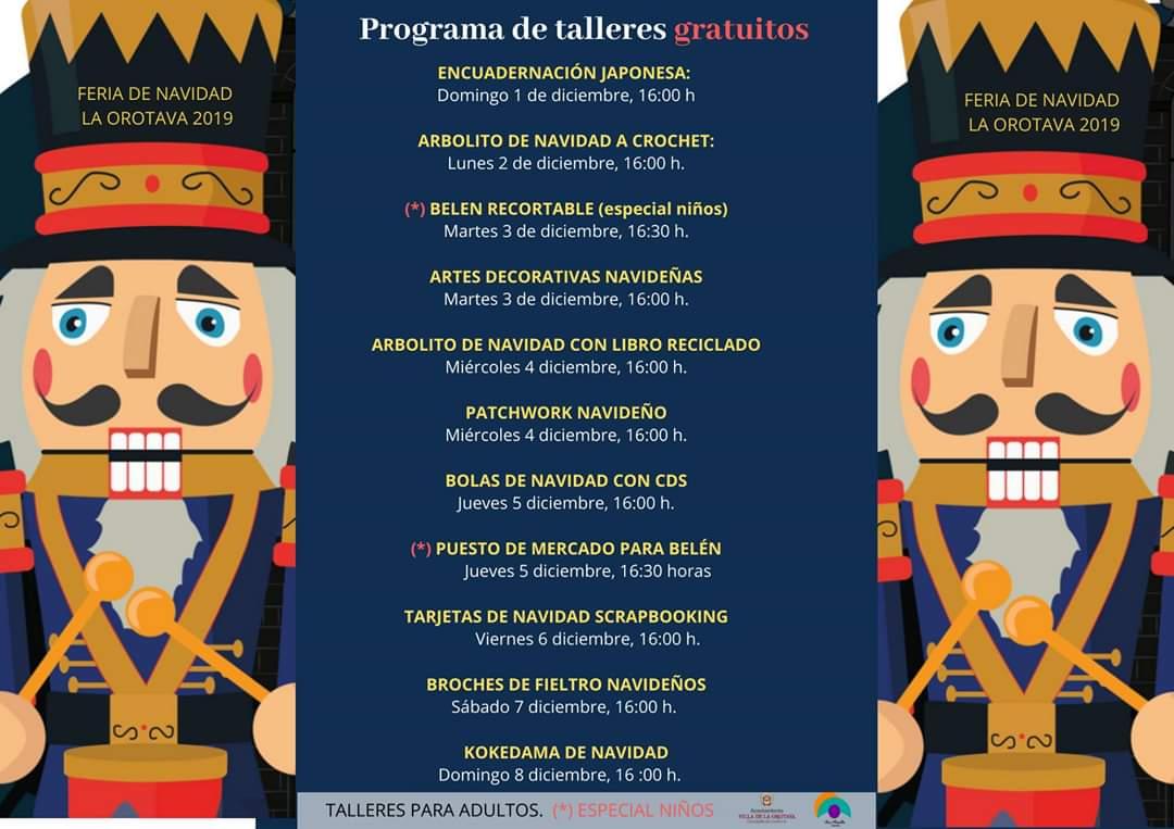 Feria de Navidad de La Orotava diciembre 2019 Casa Cultura San Agustín diciembre 2019