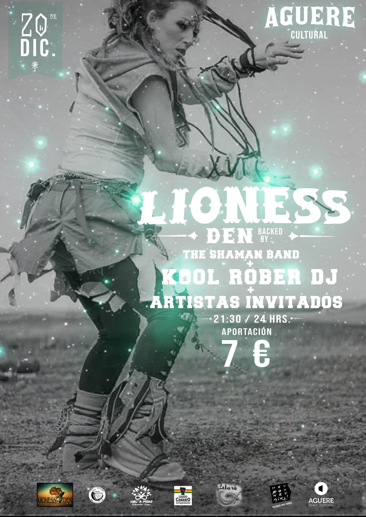 Lioness Den Shaman Band aguere cultural laguna diciembre 2019