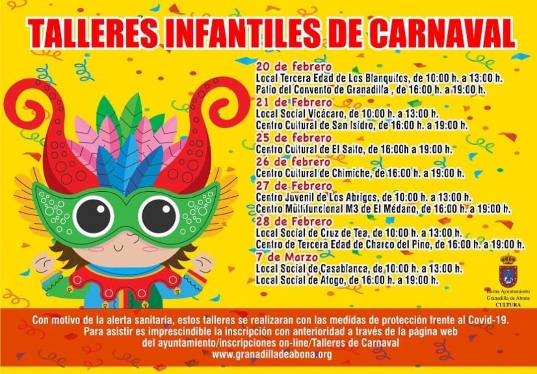 taller infantiles carnaval granadilla 2021
